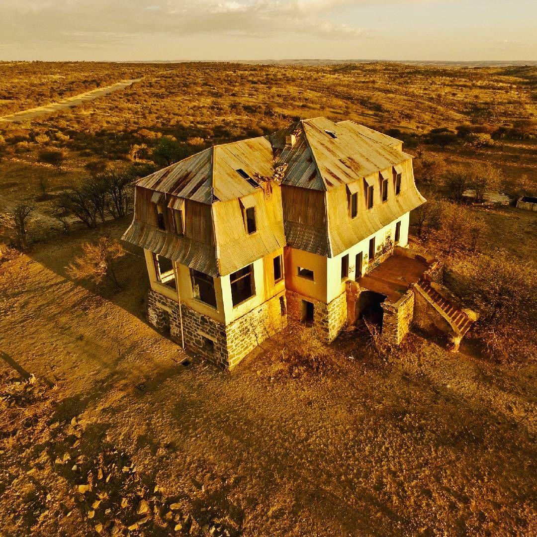 Abandoned old house in khomas hochland near windhoek namibia at windhoek rural