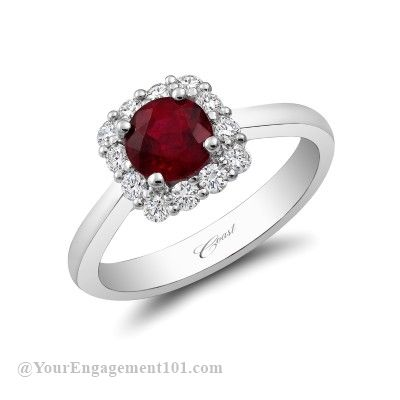 Round cut ruby Coast Diamond engagement ring