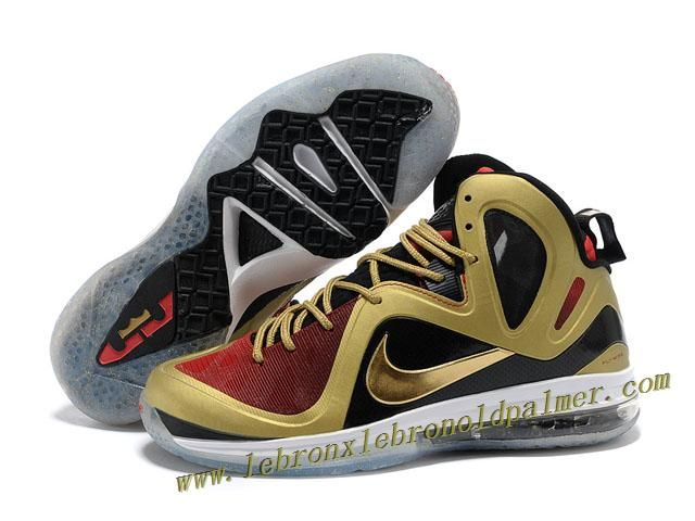online retailer d89fb 1ccc8 Nike LeBron 9 P.S. Elite Shoes Black Red Gold