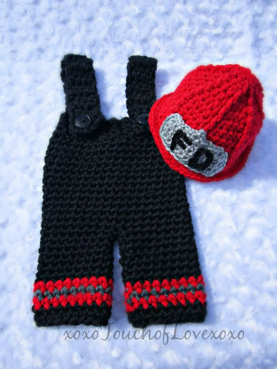 Super cute red and black Firefighter pant by xoxoTouchOfLovexoxo, $45.00