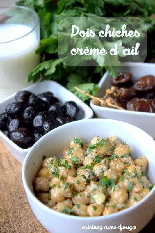Pois chiches crème dail et persil