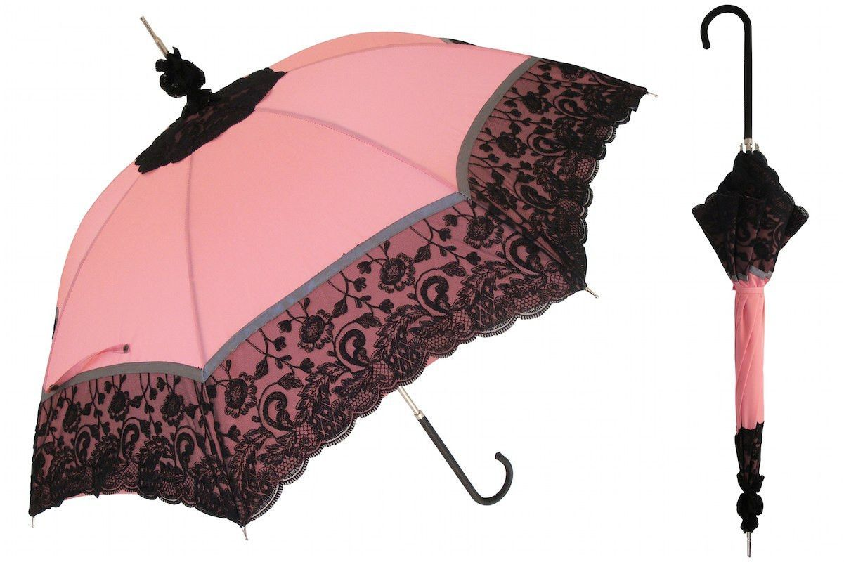 Item: 6320 Pasotti lace parasol totally handmade, made in Italy exclusively. Any woman would love to have this parasol on a rainy day. Not only light weight and durable but beautiful as well. A must h