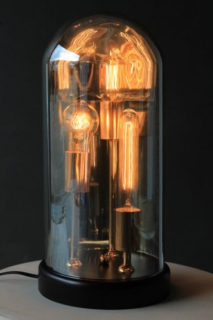 Three Vintage Style Bulb In Dome Table Lamp Let There Be Light