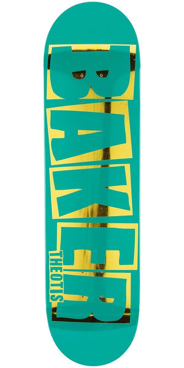 Baker Beasley Brand Name Skateboard Deck Teal Gold 8 25 Skateboard Teal And Gold Skateboard Decks