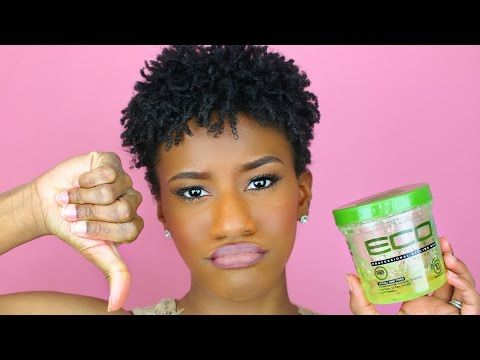 Natural Hairstyle For Extremely Short Hair With Eco Styler Gel Natural Hair Gel Natural Hair Styles Eco Styler Gel
