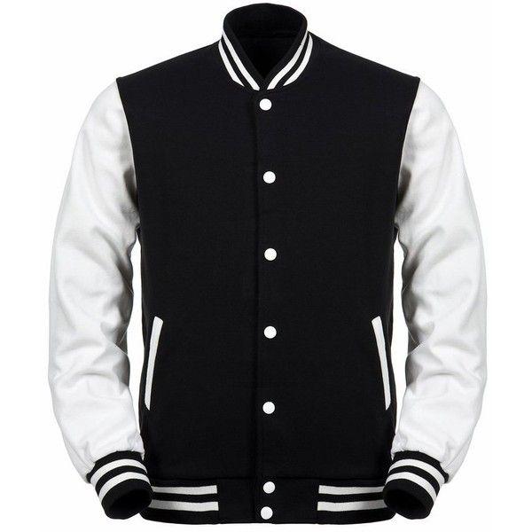 Angel Cola Black White Cotton Varsity Lightweight Letterman Jacket ...