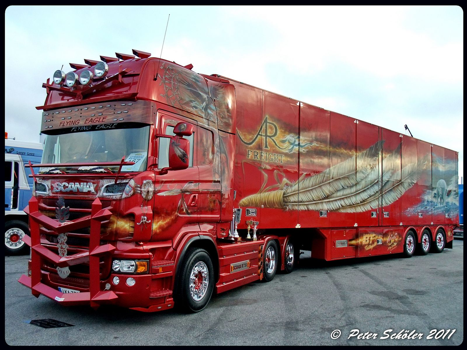 scania r730 v8 topline ar freight fin biggest truck semi trucks and custom cars. Black Bedroom Furniture Sets. Home Design Ideas