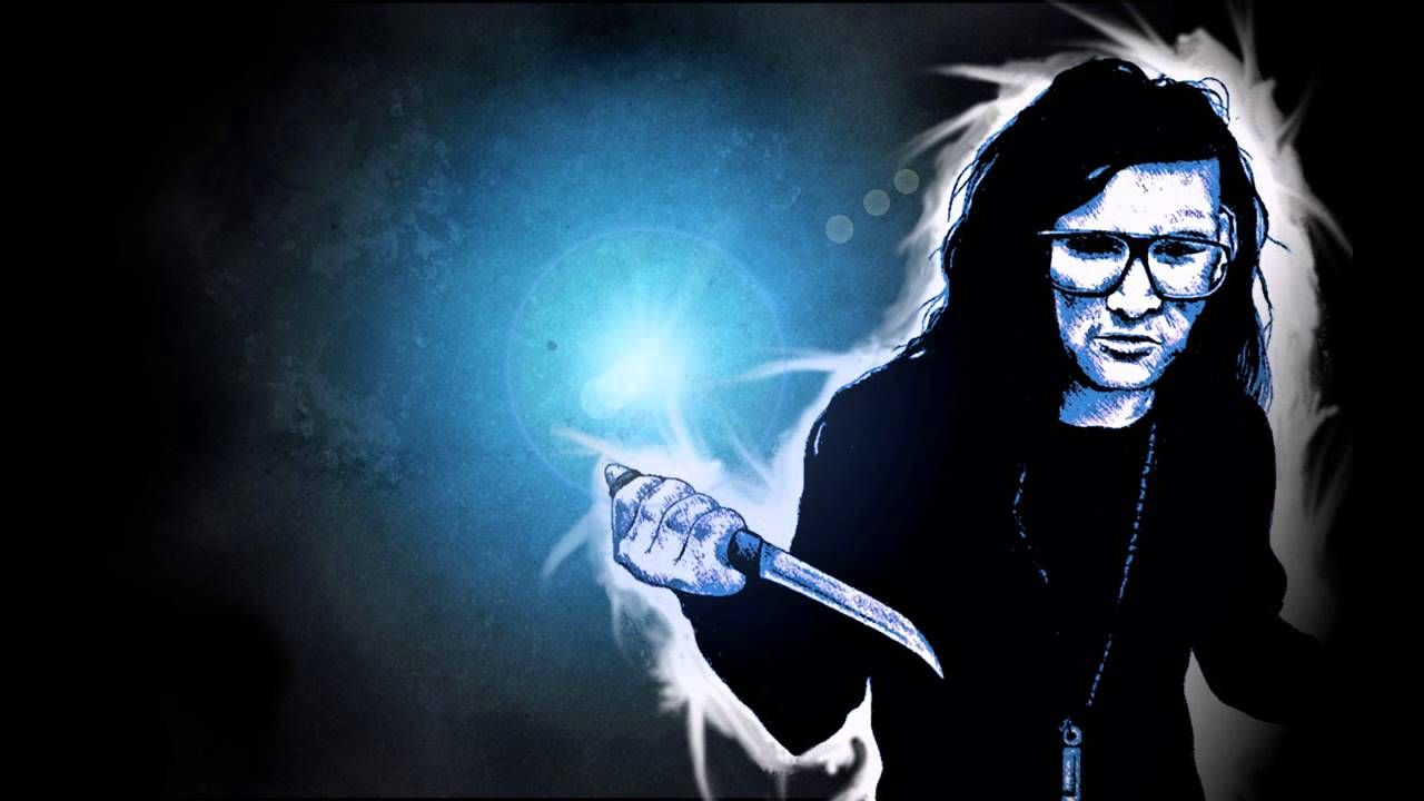 DJ Skrillex Photo Gallery D Blue Background HD Music Is A Awesome 1600x1000 Imagenes De Wallpapers 24