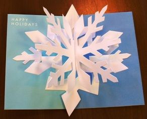 3d Snowflake Card Pop Up Christmas Cards Diy Christmas Cards 3d Christmas Cards