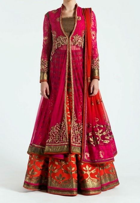 Outfits Bridals Lehenga Collection 2015 By Satya Paul (4)