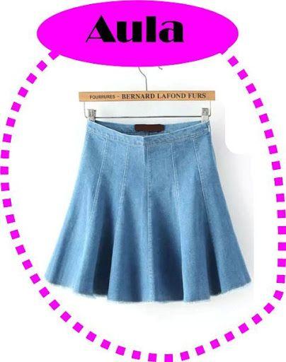 Saias Jeans formada por 6 nesgas. Tutorial | Coisas para usar ...