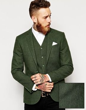 Enlarge ASOS Slim Fit Blazer in 100% Wool | Wayne | Pinterest ...