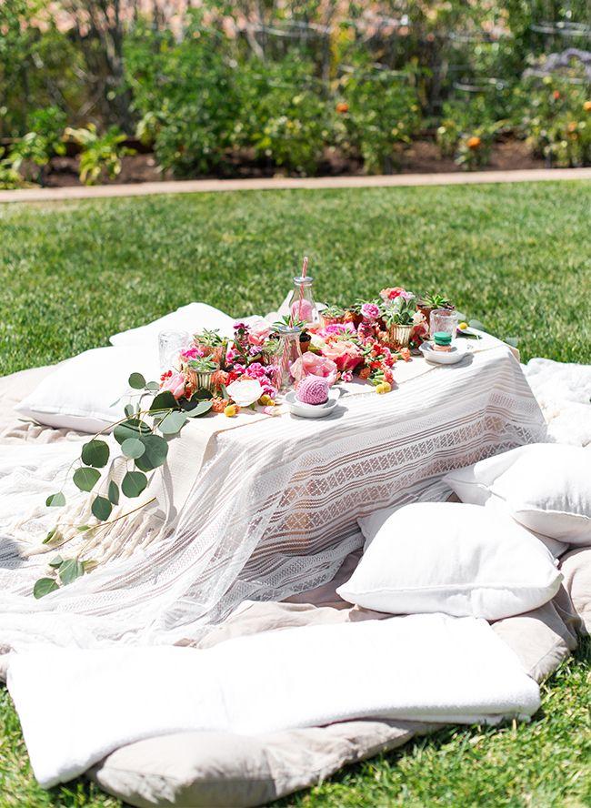 Kids Floral Backyard Picnic