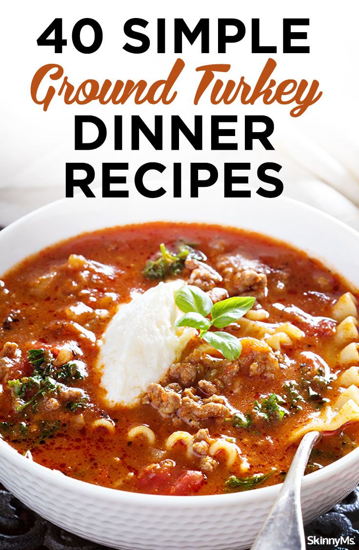 40 Simple Ground Turkey Dinner Recipes images