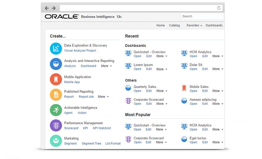 Oracle Business Intelligence 12c Discover New Insights Foster A