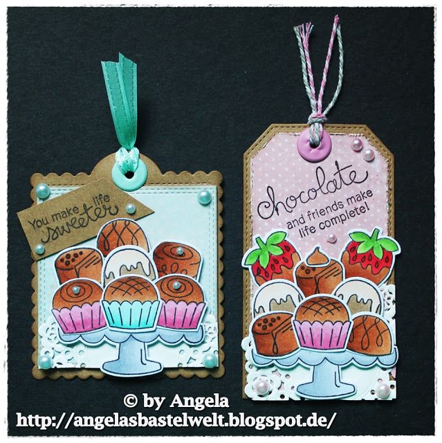 Angelas Bastelwelt: ♥ Chocolate and friends make life complete ♥ | Love & Chocolate stamp set by Newton's Nook Designs #newtonsnook