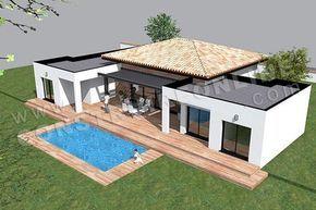 plan de maison moderne plain pied TEMPLATE (5) | architecture ...