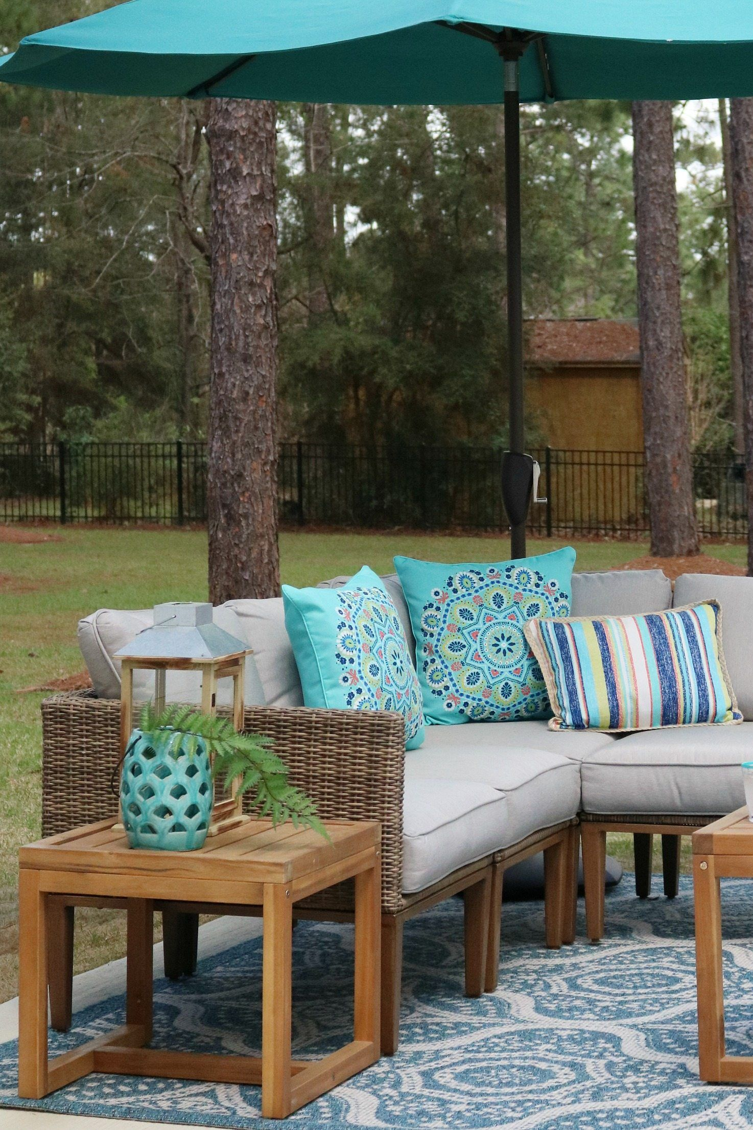 Corner Patio Sofa Sectional Outdoor Furniture Set
