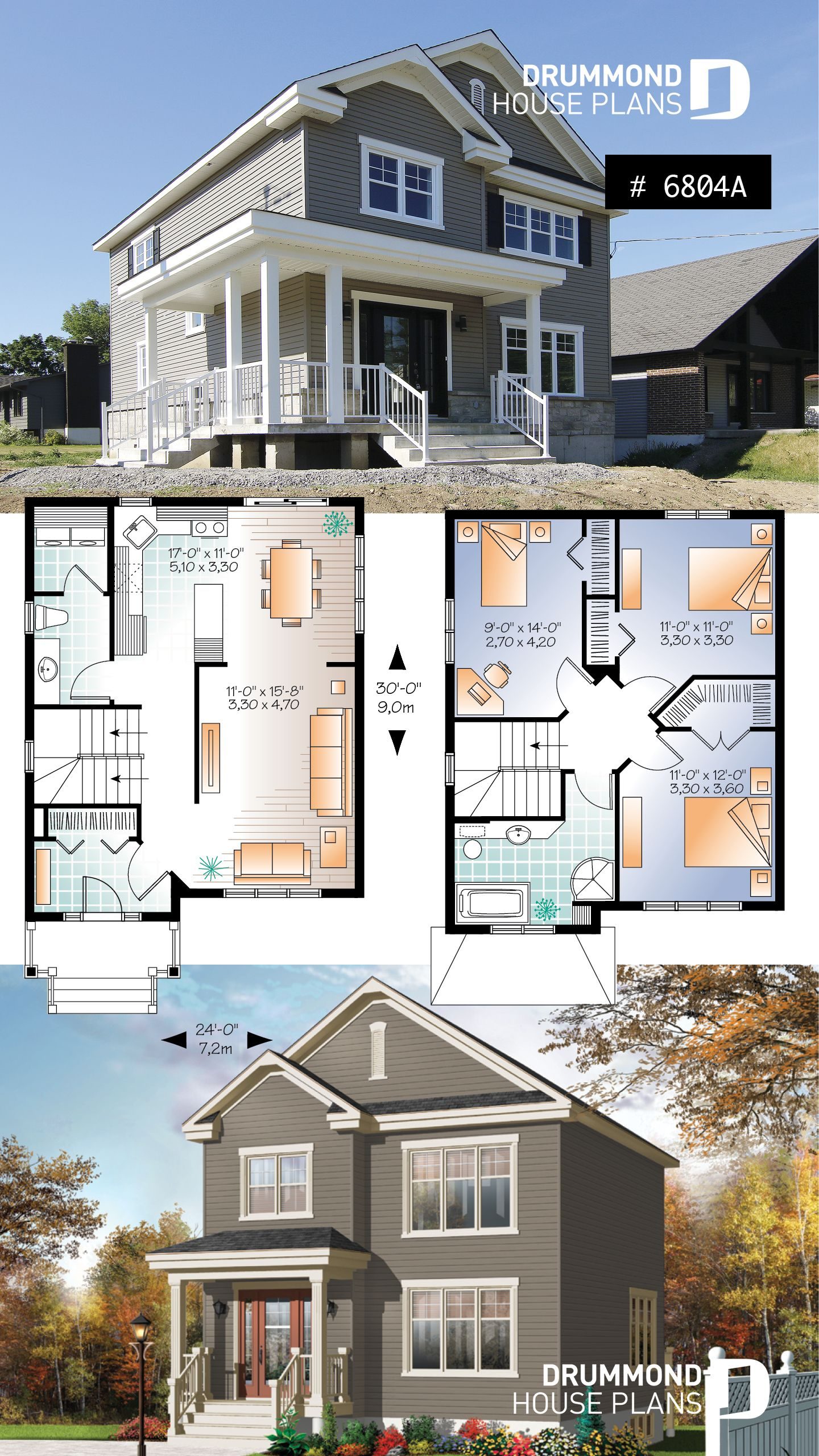 Discover The Plan 3709 V1 Warner 2 Which Will Please You For Its 3 Bedrooms And For Its Country Styles American Style House American Houses Sims House Plans