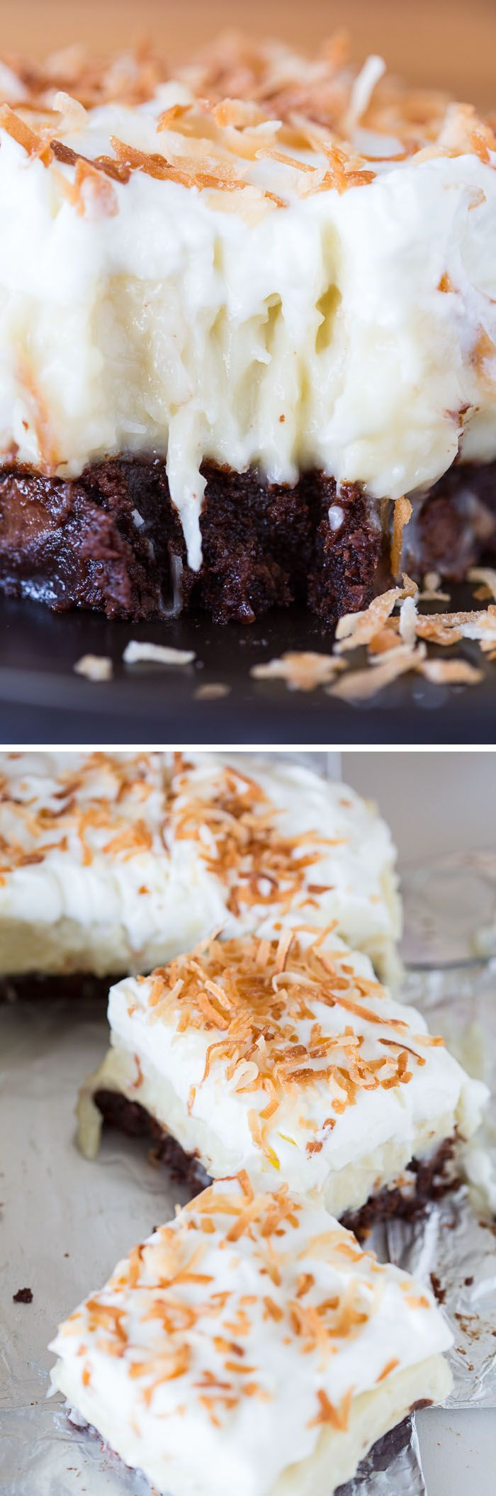 Coconut Cream Brownies | BROWNIES variados | Pinterest | Bocadillos ...