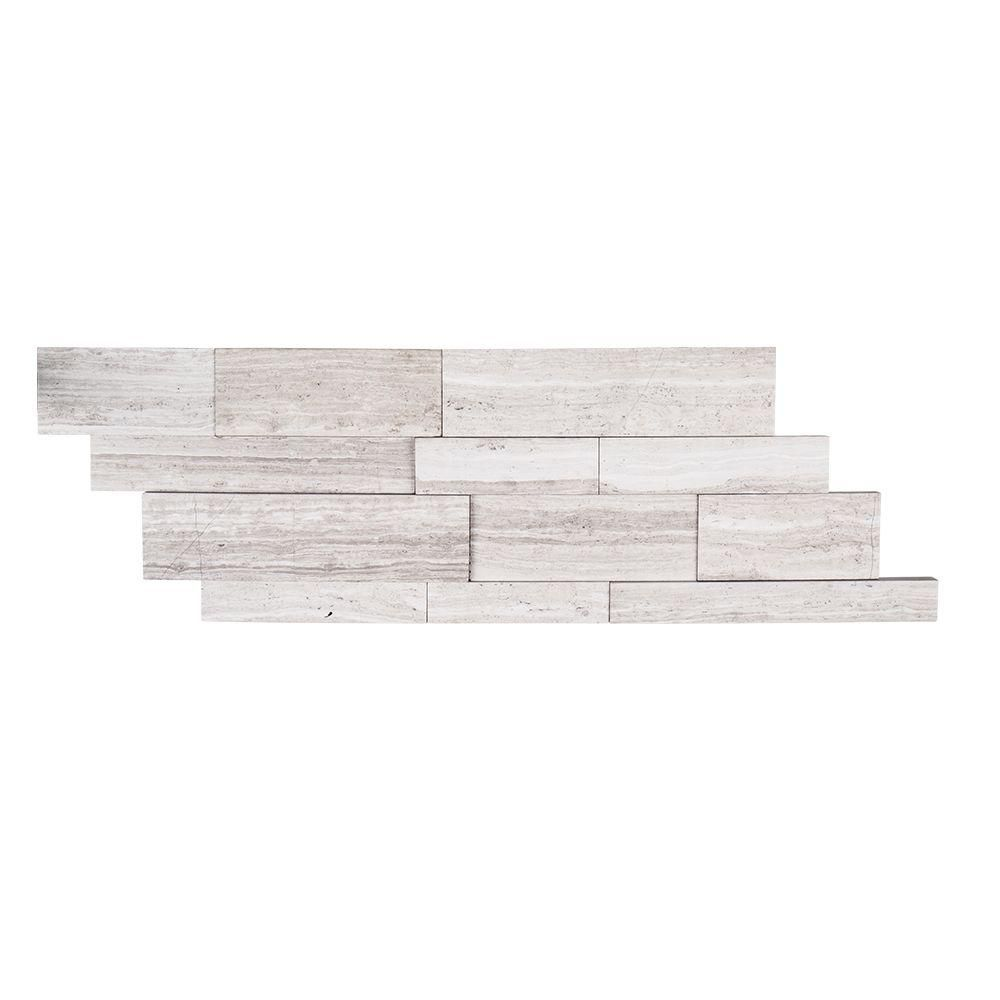 Jeffrey Court Stone Grey Ledger 5 7 8 In X 16 In X 14 Mm Limestone Mosaic Tile 99258 Mosaic Tiles Grey Stone Mosaic Wall Tiles