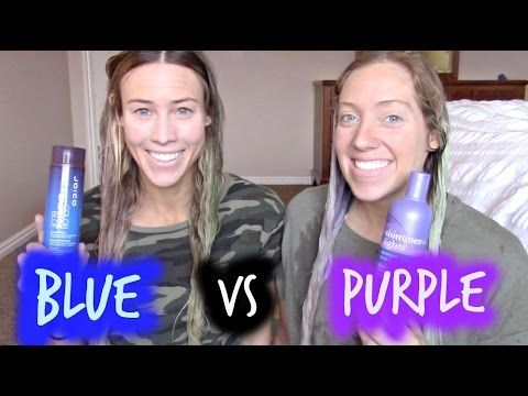 Blue For Brunettes W Highlights Purple Vs Blue Shampoo What