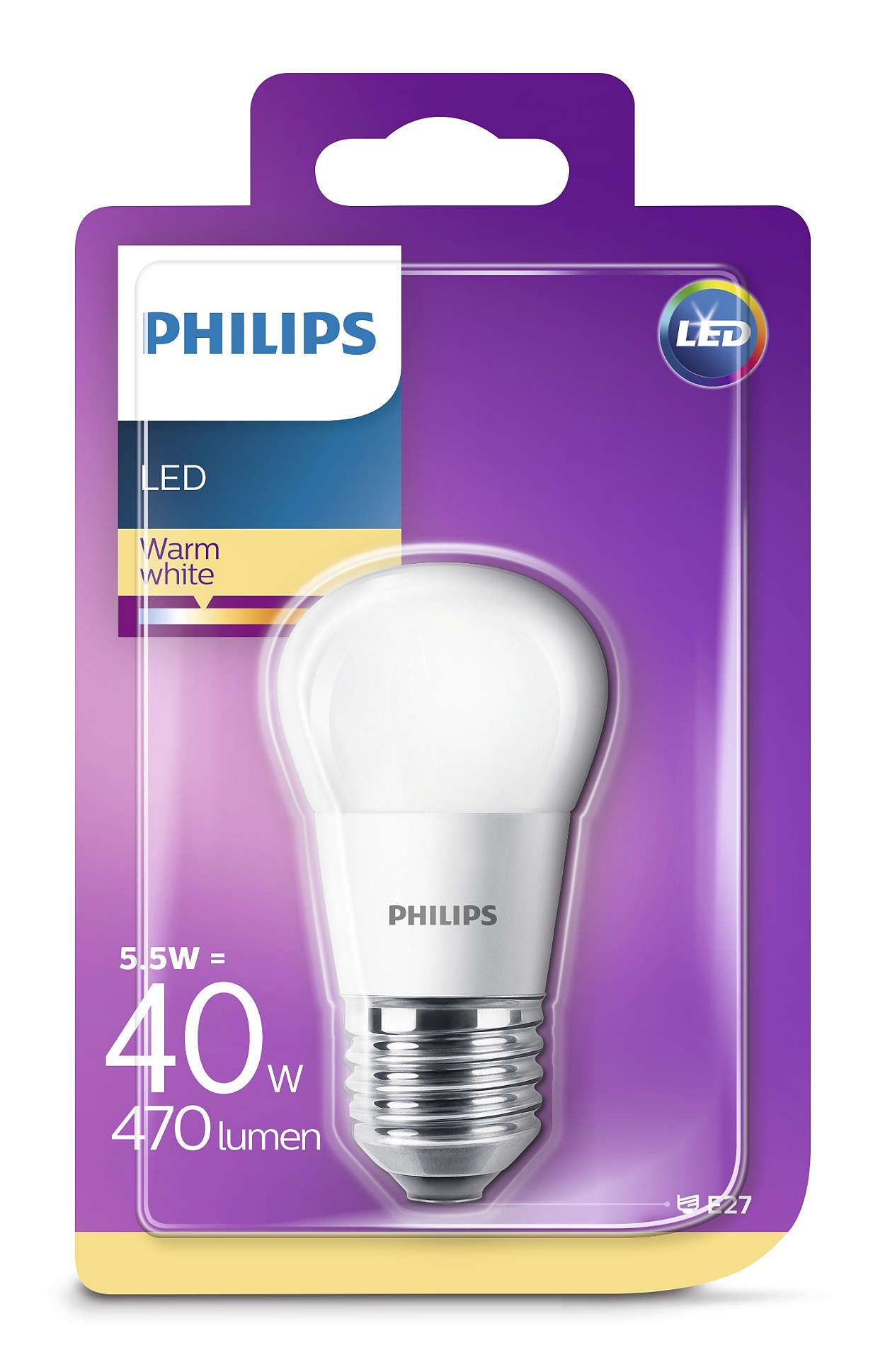 Philips Led Svetodiodna Lampa 40w P45 E27 Ww Fr Nd Rf 1bc 6