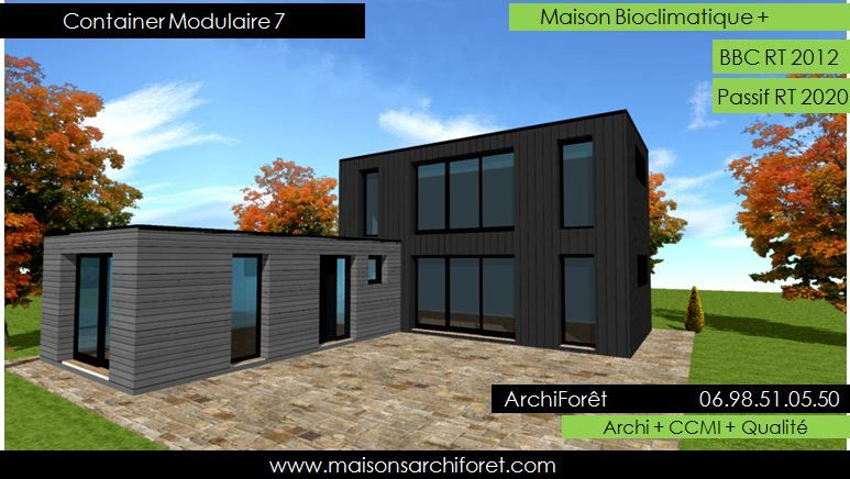 maison toit plat bac acier ar27 jornalagora. Black Bedroom Furniture Sets. Home Design Ideas