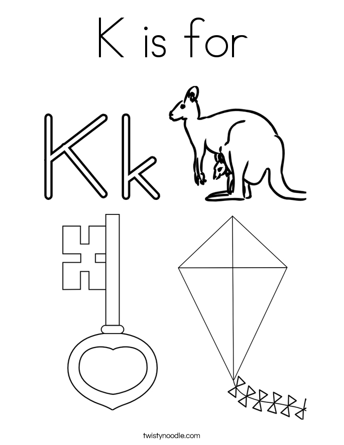 Letter K Coloring Pages Alphabet Activities