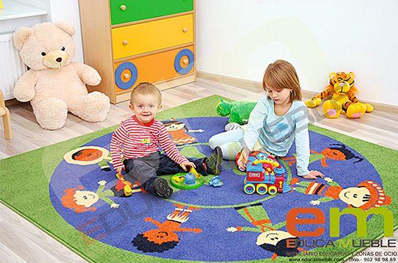 Alfombra infantil que muestra las diferentes partes del for Diferentes tipos de alfombras