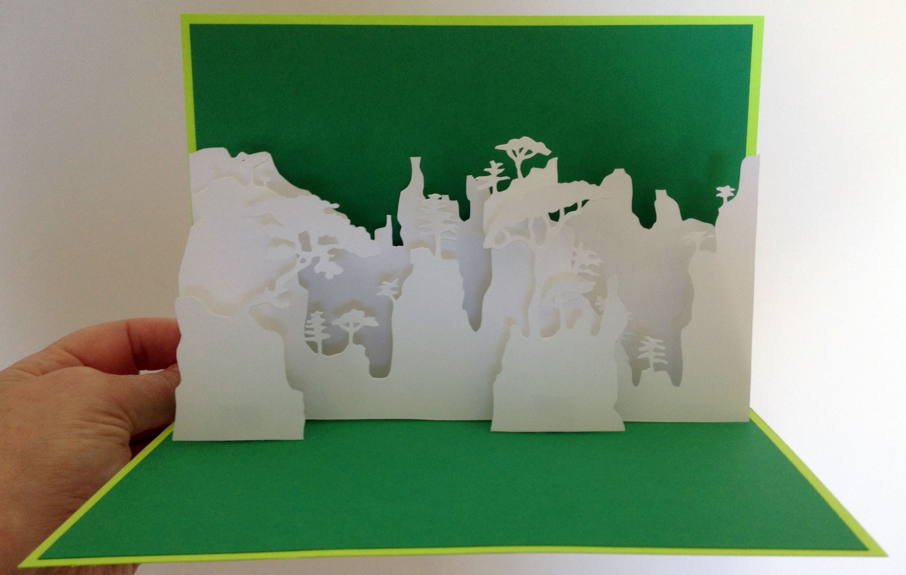 Huang Mountains China Pop Up Card Template From Paysages En Pop Up Pop Up Card Templates Diy Crafts For Gifts Cards Handmade