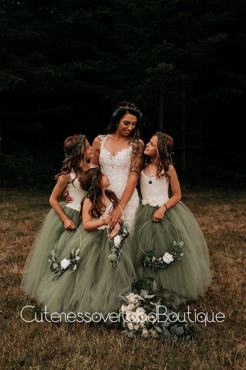 Sage Green Wedding Tutu Dress-Sage Green Birthday
