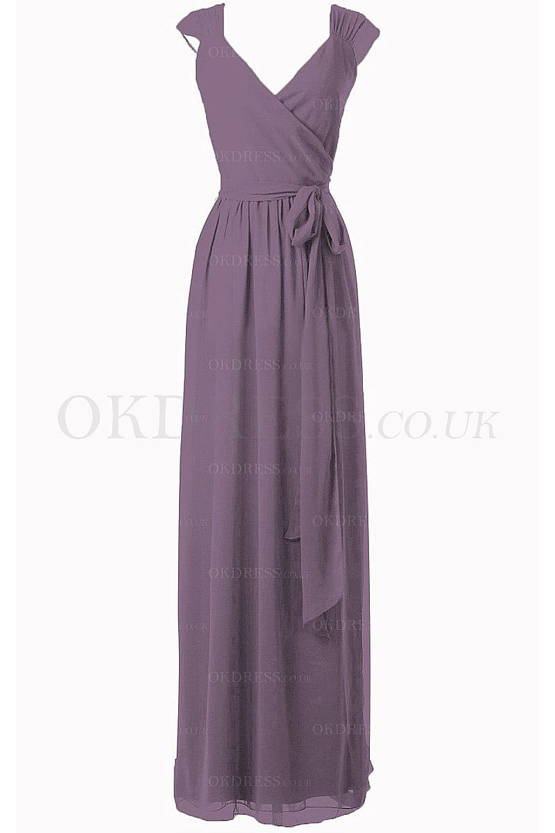 Neat Maternity A-line Chiffon Cap Sleeves Natural Bridesmaid Dresses ...