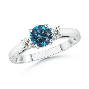 Angara Round Diamond Engagement Ring e5tZcIunG0