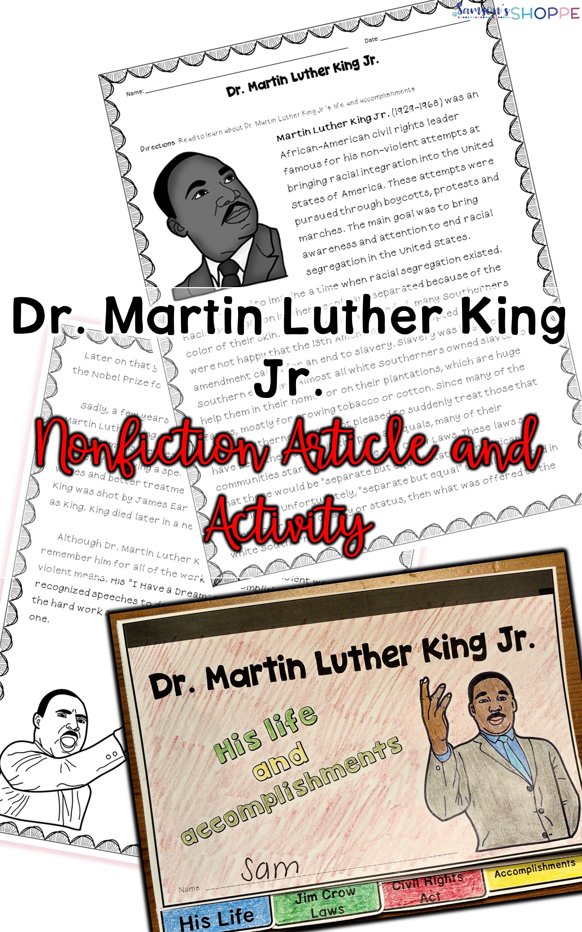Martin Luther King Jr Holiday Activity