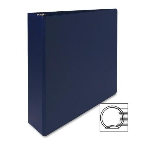 Sparco Products 3 Ring Binder 2 Capacity 11 X8 1 2 Dark Blue 8 Units Blue Vinyl Blue Cases 3 Ring Binders
