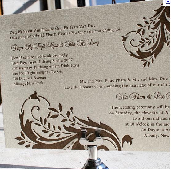 Wedding Invitations Spanish Wording: Another Bilingual Wedding Invitation Layout