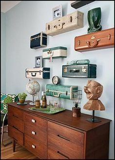 Photo of Ki Nassauer's Vintage Suitcase Shelves