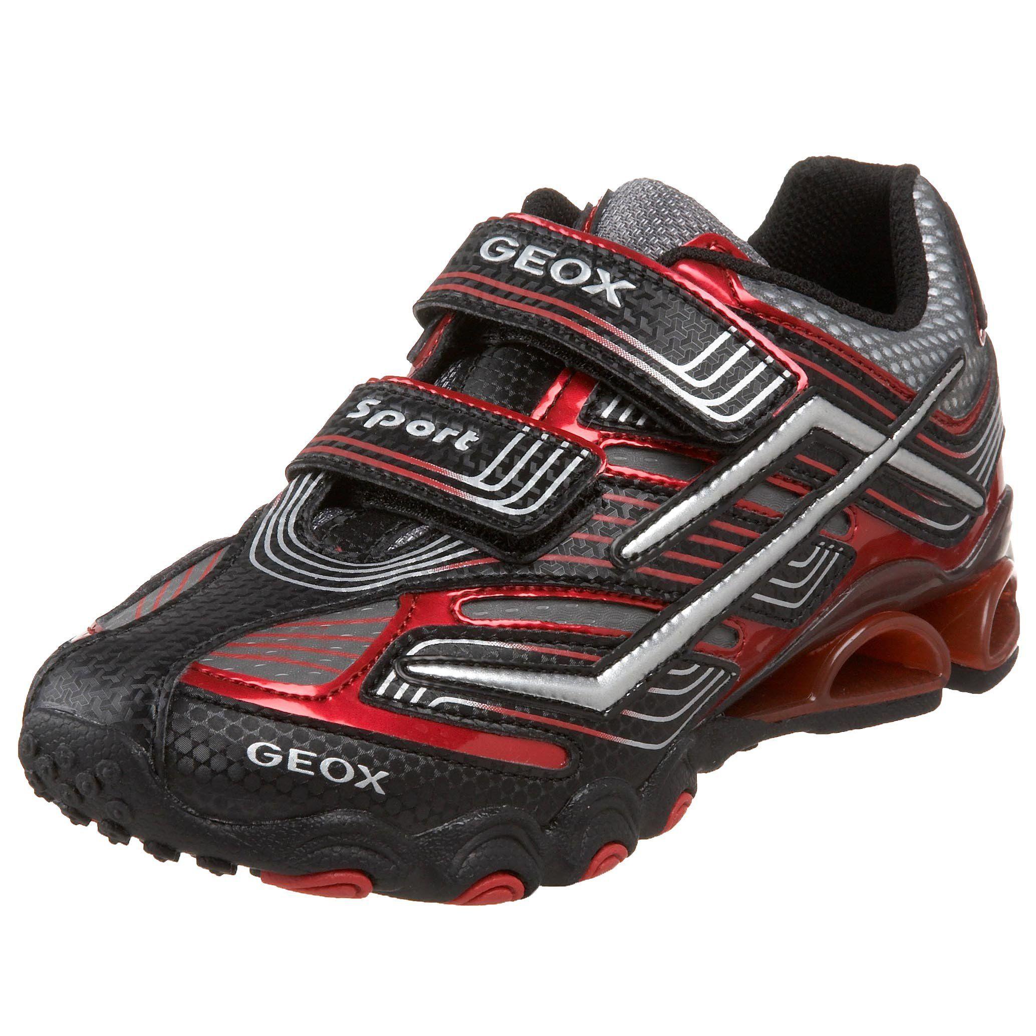 newest collection 33677 fd103 Geox Little Kid/Big Kid Tornado Sneaker,Black/Red,28 EU ...