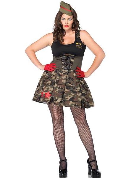 La85114x Sexy Leg Avenue Combat Cutie Fancy Dress Costume Army