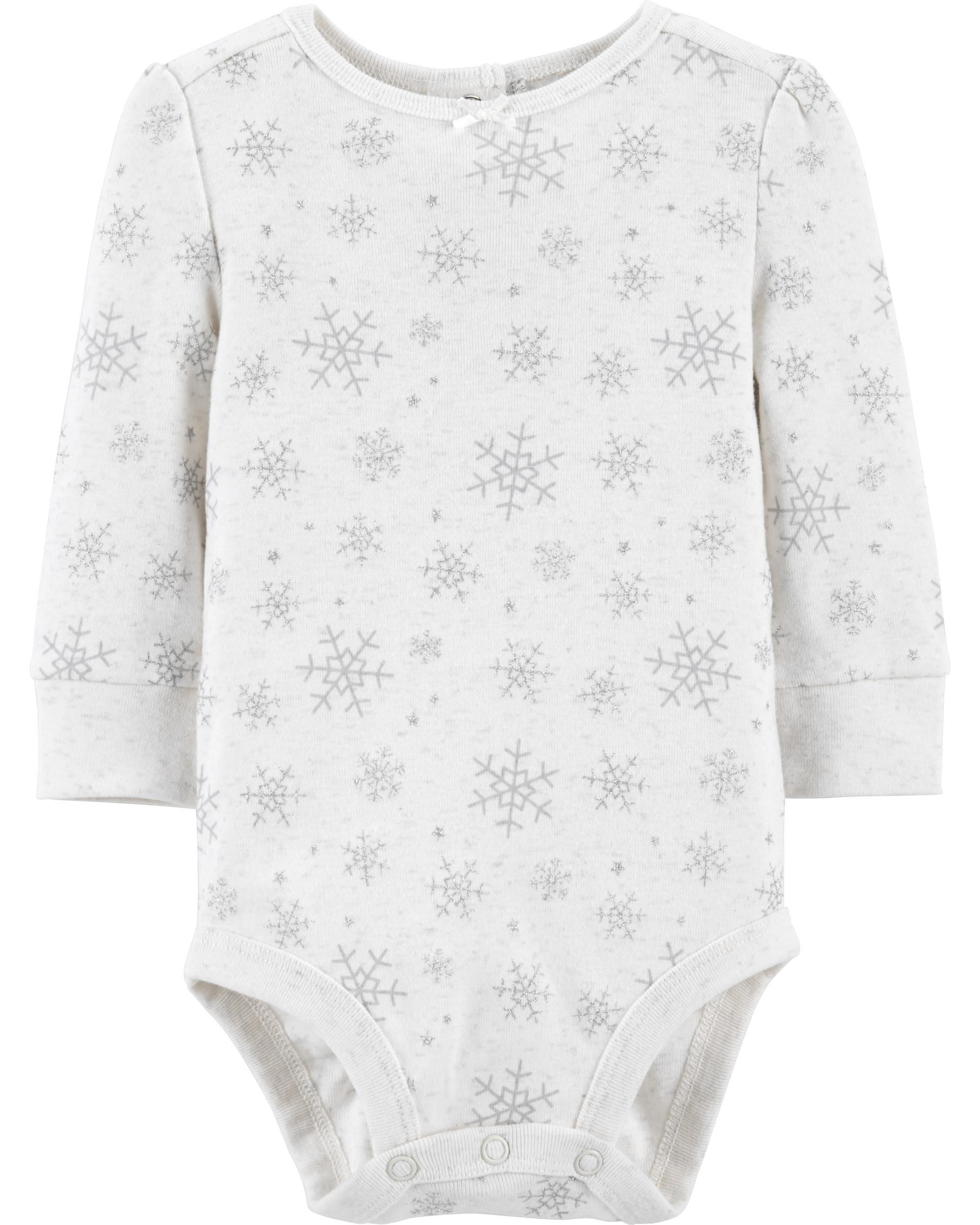 OshKosh B'gosh Girls Bodysuit 0-3 Months White layered Lace Shoulder Sleeves