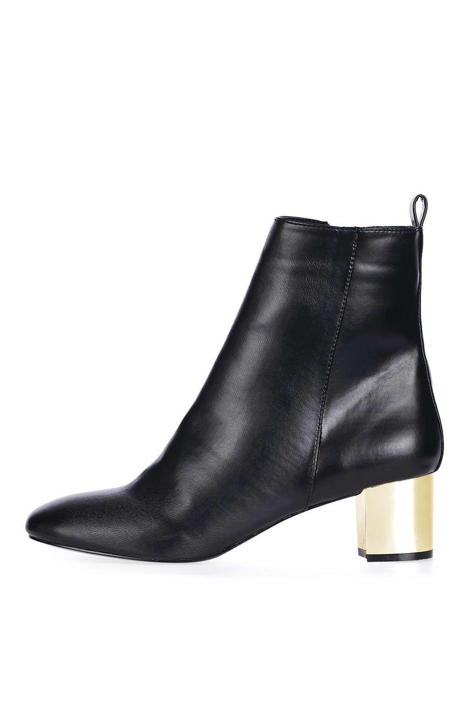 BELLA Heeled Boot - Topshop Black Ankle Booties, Black Heel Boots, Shoes  Boots Ankle 86b3f74d54