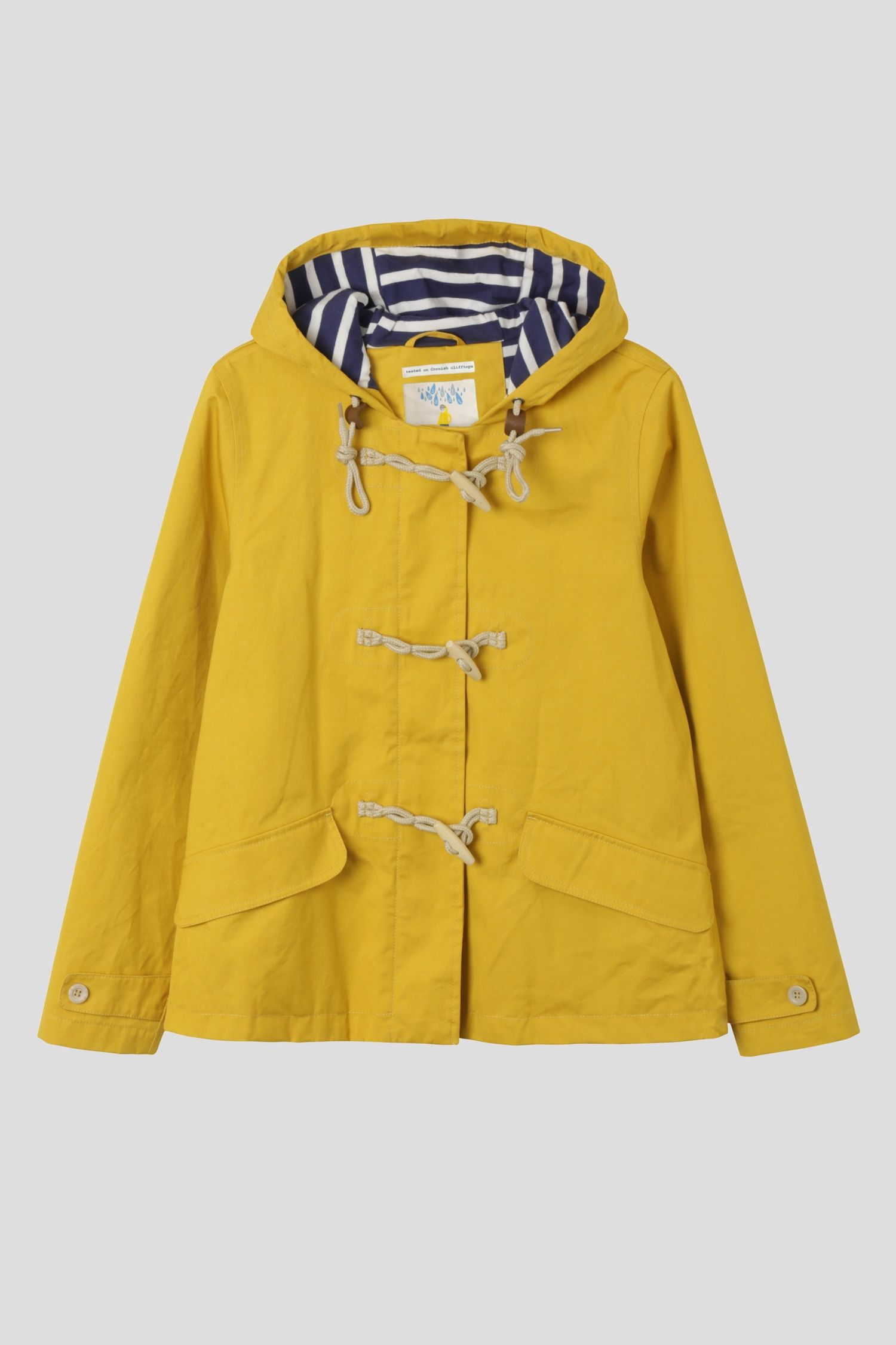 Classic nautical styling for rainy days.