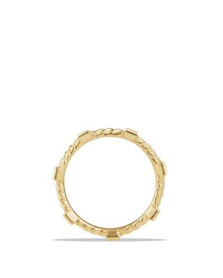 Cable Collectibles Ring With Diamonds In 18k Gold Jewelry Rings 18k Gold Jewelry Jewelry