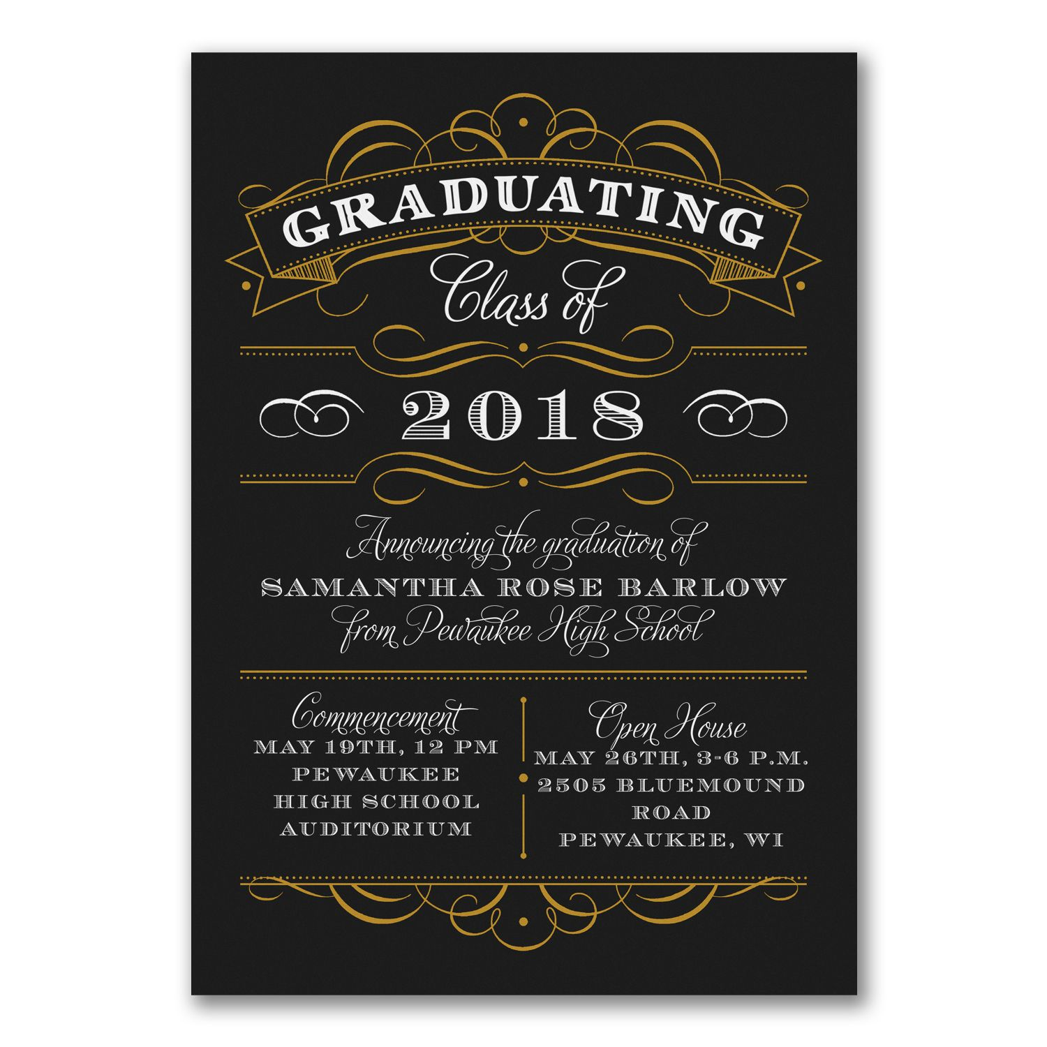 Classy chalkboard custom printed graduation announcement http classy chalkboard custom printed graduation announcement httppartyblockinvitationsoccasions sa filmwisefo