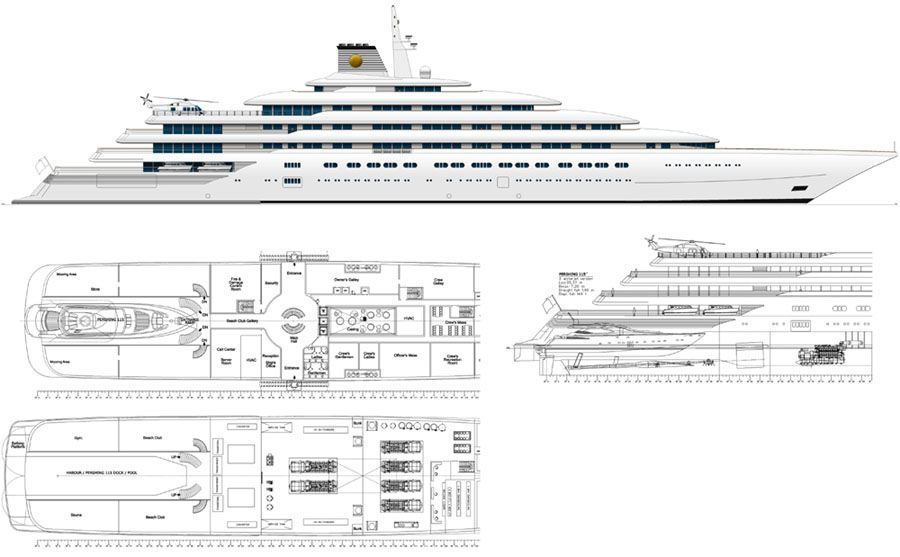 Mega Yacht Floor Plans Design