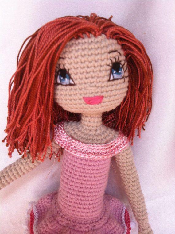 Angelica Crochet Doll PDF downloadable Pattern by KindabamCrochet