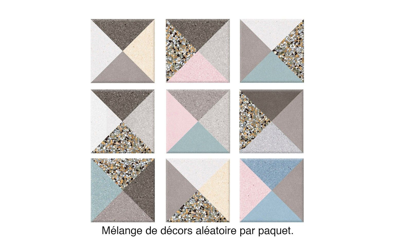 Carrelage Cestine Aspect Carreau Ciment Multicolore Dim 20 X 20