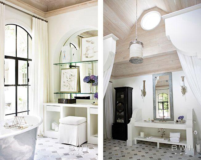 Beth Webb Interiors · #Home #Bath #Decor www.IrvineHomeBlog.com/