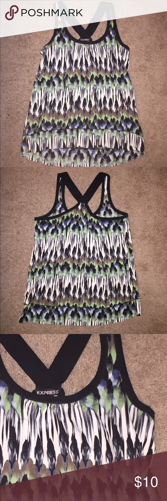 Express tank top Tank top. Great condition. Worn once. Watercolor print. Express Tops Tank Tops